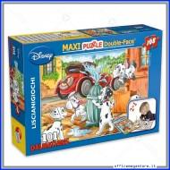 Puzzle La Carica Dei 101 Dalmatians supermaxi 108 pezzi 70x50 cm double face 2 in 1 Disney Giochi Giuseppe Lisciani 31702