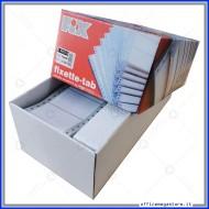Etichette 72x49 mm ad 1 pista autoadesive su moduli continui scatola da 3750 pezzi Fix Fixette tab 6026