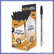 Penne a sfera Bic Cristal Original Punta Media 1 mm colore nero 837363