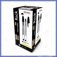 Penna a Sfera Rock Colore Nero punta media 1,0 mm Confezione 50 Pz con Cappuccio Wiler BP01N