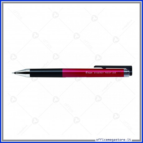 Penna roller a scatto Synergy point inchiostro rosso gel punta fine 0.5 mm BLRT-SNP5 Pilot 001367