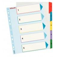 Rubrica Numerica Riscrivibile A4 in Cartoncino con Tasti Colorati da1 a 5 - 100207