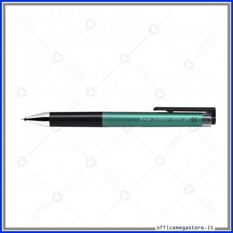Penna roller a scatto Synergy point inchiostro verde gel punta fine 0.5 mm BLRT-SNP5 Pilot 001368