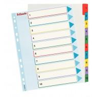 Rubrica Numerica Riscrivibile in Cartoncino A4 con Tasti Colorati da1 a 10 - 100208