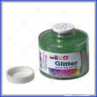 Barattolo glitter verde polvere a grana fine da 150ml porporina  CWR Art.130/100/5