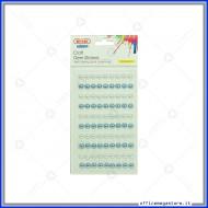 Stickers perle adesive 8mm colore bianche e blu Wiler STKP412
