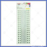 Strass adesivi craft stickers blister 1 foglio da 100x260 mm lineari e cuori Wiler STKCY001