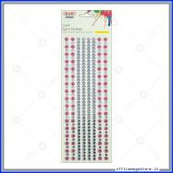 Strass adesivi craft stickers blister 1 foglio da 100x260 mm lineari e fiori Wiler STKCY002