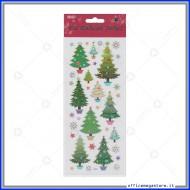 Etichette Adesive in PVC con brillantini motivo alberi di natale Wiler STK167011