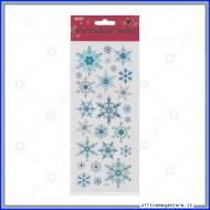 Etichette Adesive in PVC con brillantini motivo Fiocchi di Neve Wiler STK167010