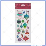 Etichette Adesive in PVC con brillantini motivo Natale Wiler STK167009