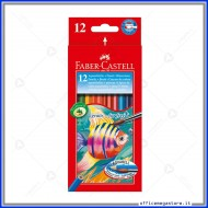 Matite Colorate Acquerellabili Astuccio da 12 Faber Castell 114413