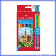 Pastelli Colorati Eco astuccio da 12 + 3 matite bicolor Faber Castell 110312