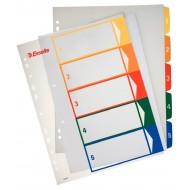 Rubrica Numerica Stampabile in PPL A4 con Tasti Colorati da 1 a 5 - 100211