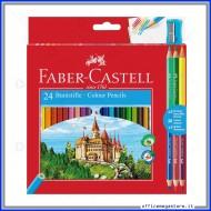 Pastelli Colorati Eco astuccio da 24 + 3 matite bicolor Faber Castell 110324