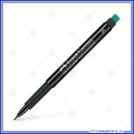 Marcatore Punta F Nero Marker Multimark 1525 permanente OHP Faber Castell 151399