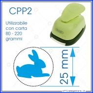 Fustella a leva per carta perforatore craft punch fustelle a mano per fustellare sagome di cartoncino forma Coniglio 25mm CPP223
