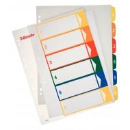Rubrica Numerica Stampabile in PPL A4 con Tasti Colorati da 1 a 6 - 100212