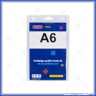 Portanomi in PVC Formato A6 101x159mm spessore 0,3mm senza clip Wiler PB06