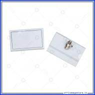 Portanomi in PVC rigido 0.35mm con clip confezione da 50 pz  Wiler PB04
