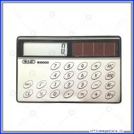 Calcolatrice ad 8 cifre formato carta di credito ad energia solare Wiler W8000