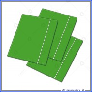 Cartellina a 3 Lembi Con Elastico Verde 26x35cm 450g - Blasetti 2408