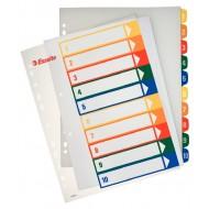 Rubrica Numerica Stampabile in PPL A4 con Tasti Colorati da 1 a 10 - 100213