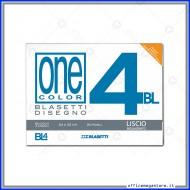 Blocco Album Disegno BL4 Liscio riquadrato 24x33 da 220gr/m con angoli indistruttibili 20 Fogli Blasetti 6174