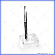 Portapenne in Acrilico trasparente a 2 fori in formato 6,5 x 4,5 x 3,5 cm Lebez 80577