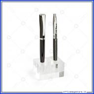 Portapenne in Acrilico trasparente a 3 fori in formato 6,5 x 4,5 x 3,5 cm Lebez 80576