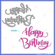 Fustelle Sottili Per Macchina Fino a 80mm Happy Birthday Wiler PC1568