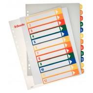 Rubrica Numerica Stampabile in PPL A4 con Tasti Colorati da 1 a 12 - 100214