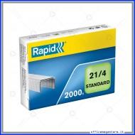 Punti 21/4 Standard per cucitrici confezione da 2000 Rapid 24867600