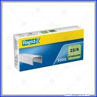 Punti metallici 23/6 Standard universali per cucitrici in confezione da 1000 Rapid 24869100