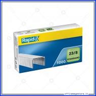 Punti metallici 23/8 Standard universali per cucitrici in confezione da 1000 Rapid 24869200