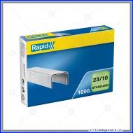Punti metallici 23/10 Standard universali per cucitrici in confezione da 1000 Rapid 24869300