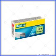 Punti metallici 10/4 Standard universali per cucitrici in confezione da 1000 Rapid 24862900
