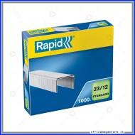 Punti metallici 23/12 Standard universali per cucitrici in confezione da 1000 Rapid 24869400