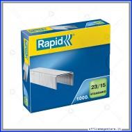 Punti metallici 23/15 Standard universali per cucitrici in confezione da 1000 Rapid 24869600
