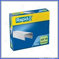 Punti metallici 23/14 Standard universali per cucitrici in confezione da 1000 Rapid 24869500