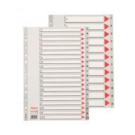 Rubrica Alfabetica Maxi (A-Z) in PPL A4 con Tasti Grigio dalla A alla Z - 100129
