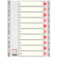 Rubrica Numerica in PPL A4 con Tasti a Scalino Stampati in Nero da 1 a 10 - 100105