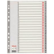 Rubrica Numerica in PPL A4 con Tasti a Scalino Stampati in Nero da 1 a 31 - 100108