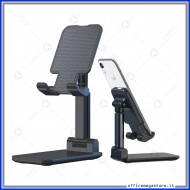Supporto regolabile porta telefono smartphone e tablet da tavolo in elegante colore nero Devia 340925 DESTT925B