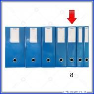 Scatola Portaprogetti Blu Dorso 8 cm Chiusura a Bottone - Ergo 1788T8120