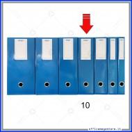 Scatola Portaprogetti Blu Dorso 10 cm Chiusura a Bottone - Ergo 1788T1012