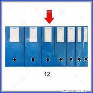 Scatola Portaprogetti Blu Dorso 12 cm Chiusura a Bottone - Ergo 1788T1212