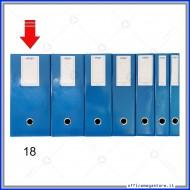 Scatola Portaprogetti Blu Dorso 18 cm Chiusura a Bottone - Ergo 1788T1812