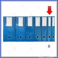 Scatola Portaprogetti Blu Dorso 6 cm Chiusura a Bottone - Ergo 1788T6120