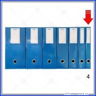 Scatola Portaprogetti Blu Dorso 4 cm Chiusura a Bottone - Ergo 1788T4120